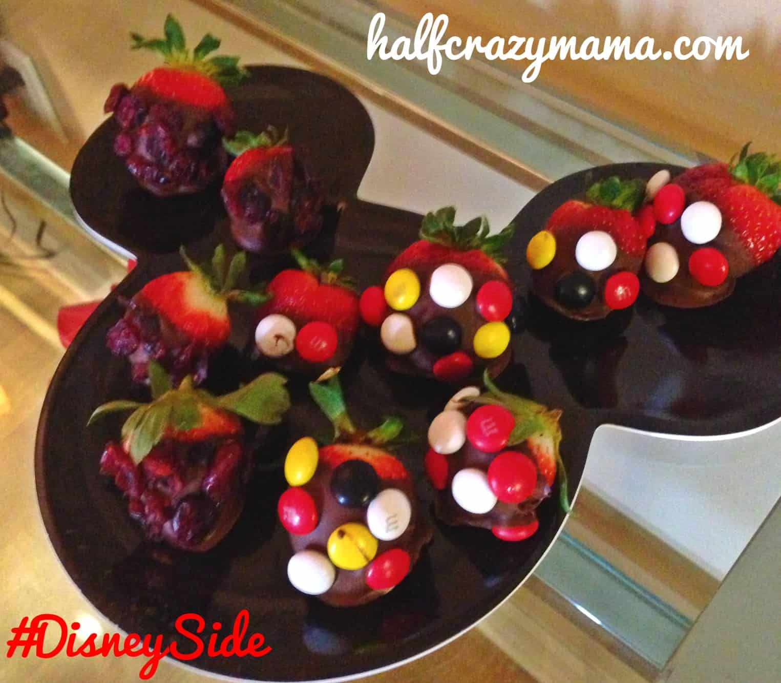 Minnie Mouse Chocolate Covered Strawberries
