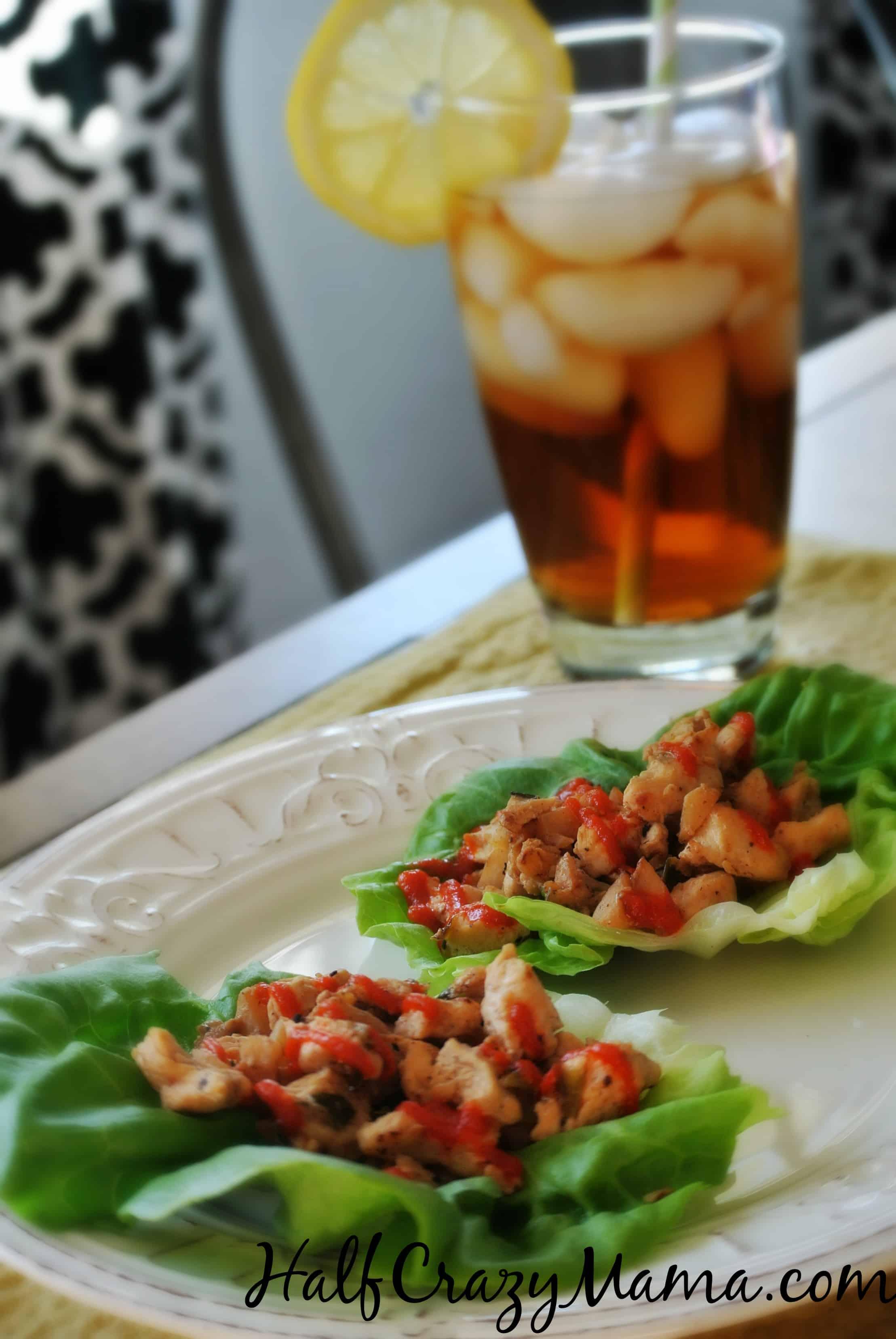 Silk Almondmilk chicken lettuce wraps