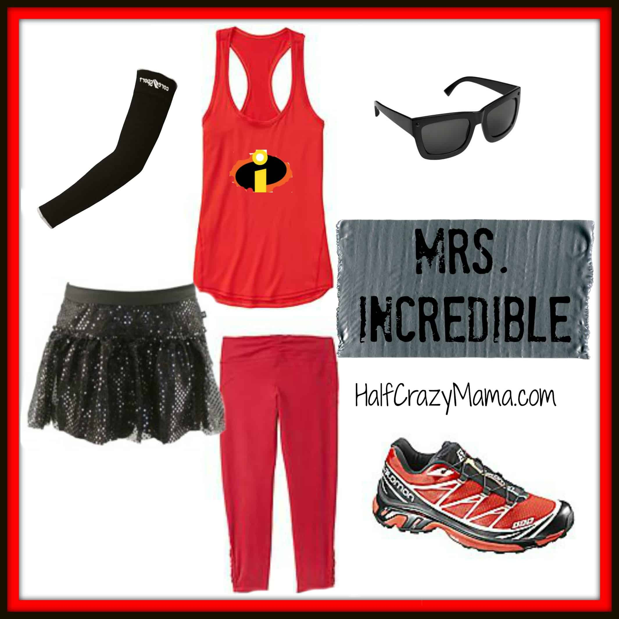 Mrs Incredible run costume