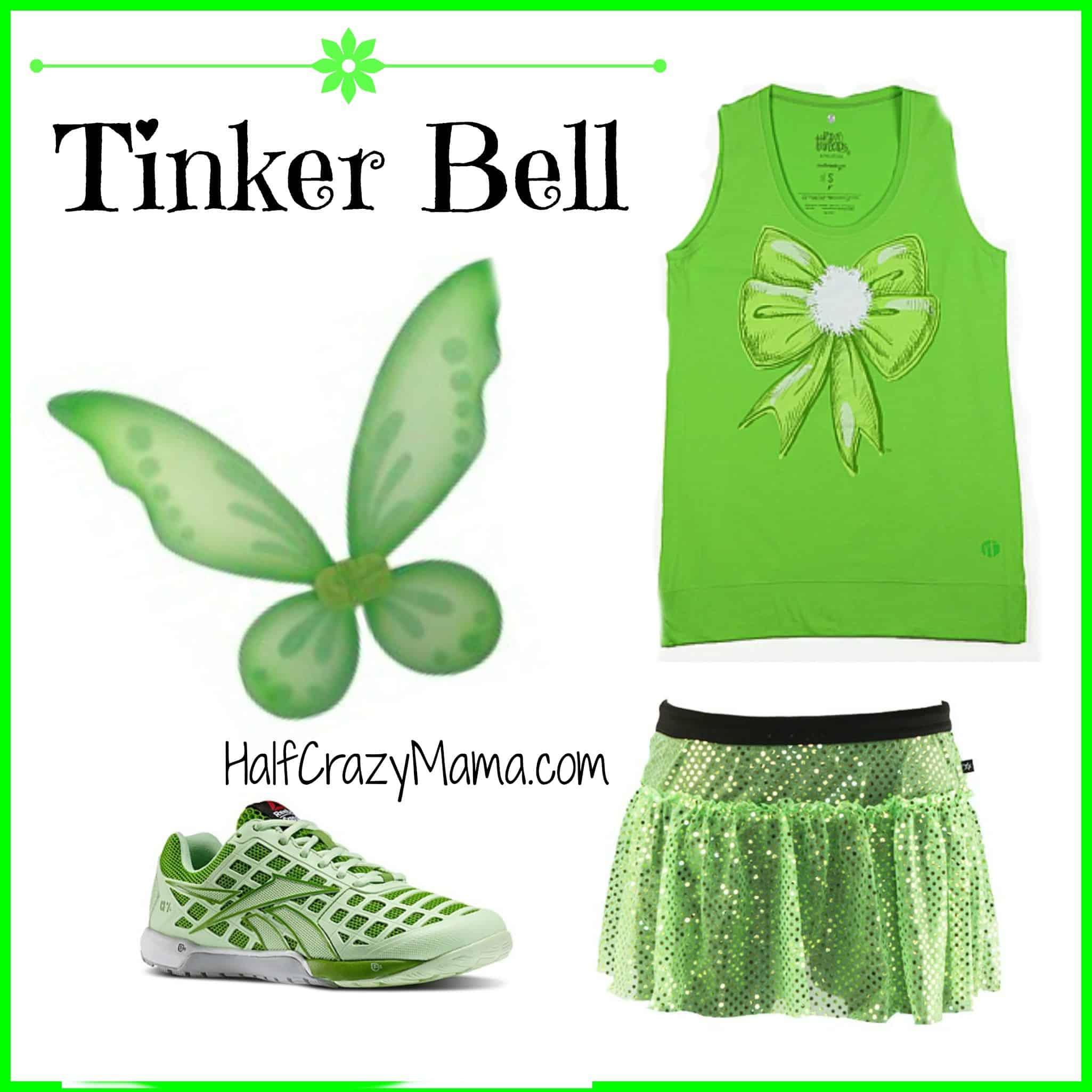 Tinker Bell run Costume ...  sc 1 st  Half Crazy Mama & Easy Disney Running Costume Ideas- Part 2 u2022 Half Crazy Mama