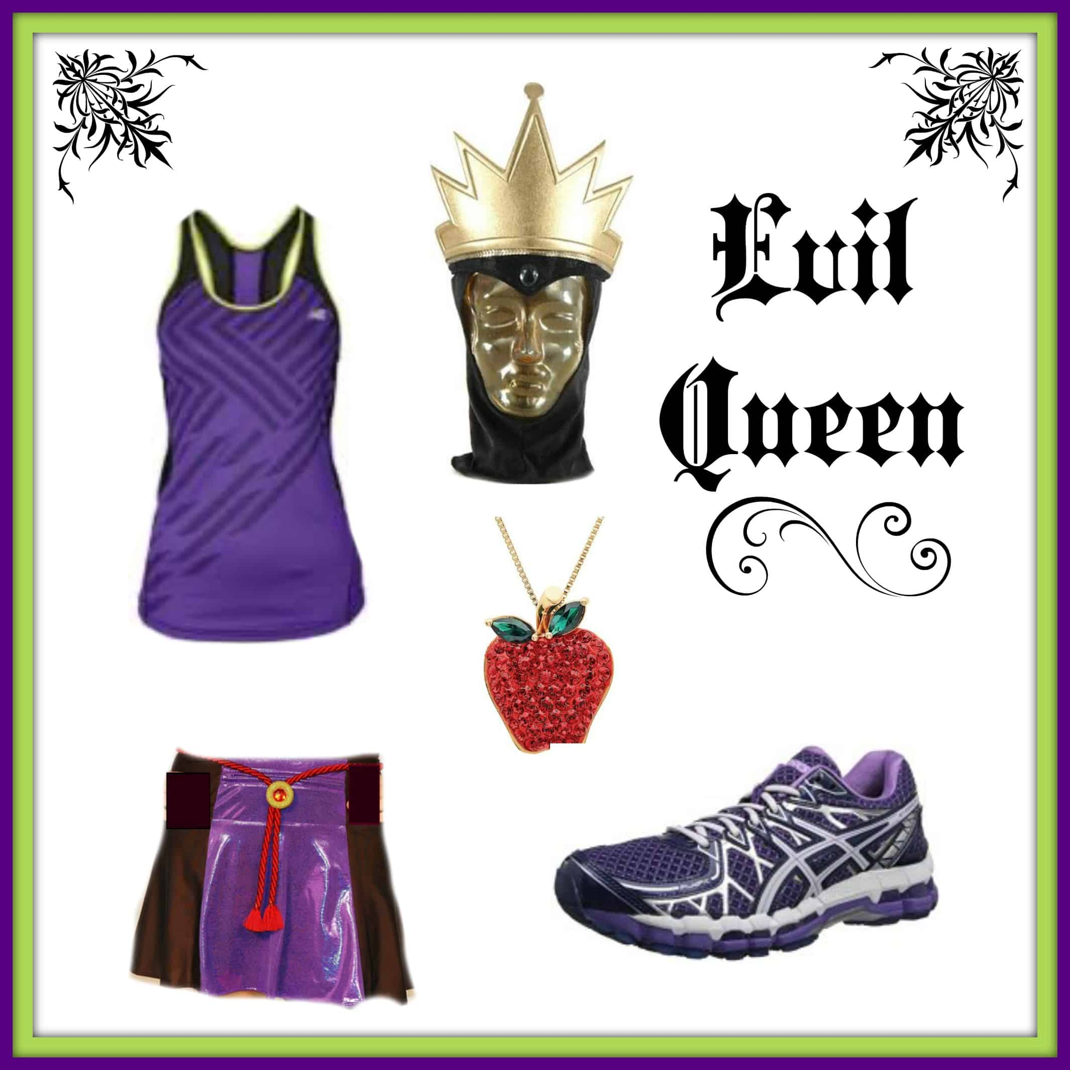 Evil Queen running costume  sc 1 st  Half Crazy Mama & Disney Villain Running Costume Ideas- Evil Queen u2022 Half Crazy Mama