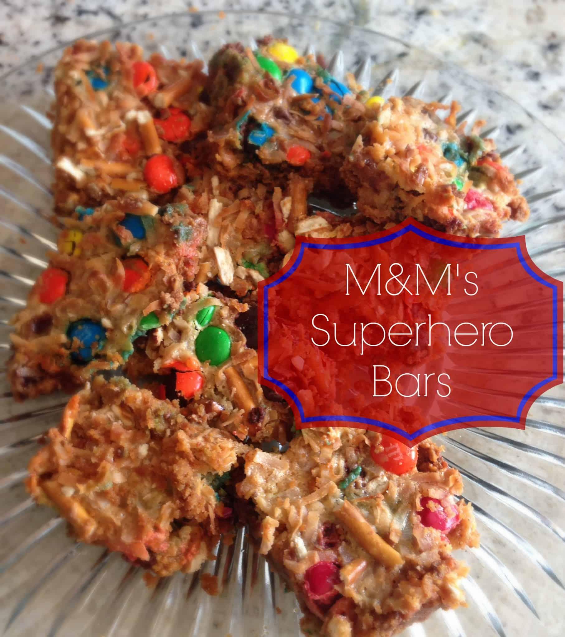 M&M's Superhero Bars