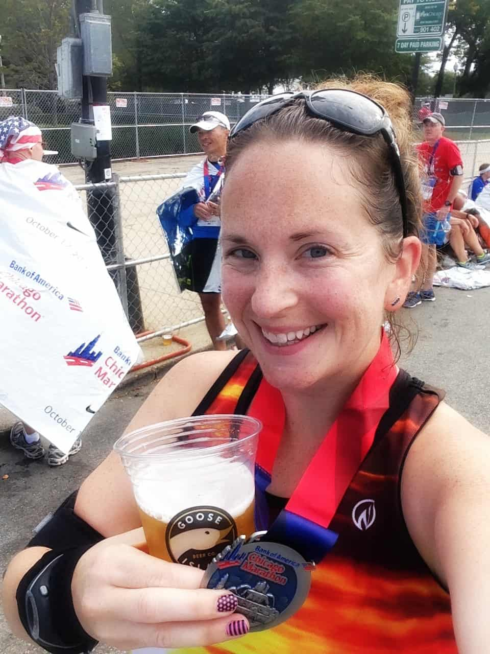 beer and medal
