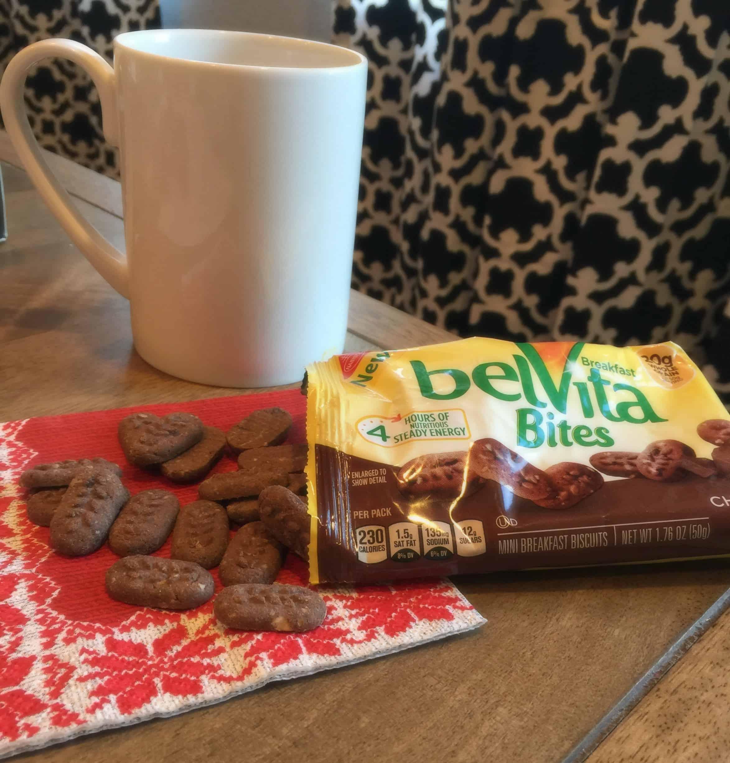 belVita Bites and coffee
