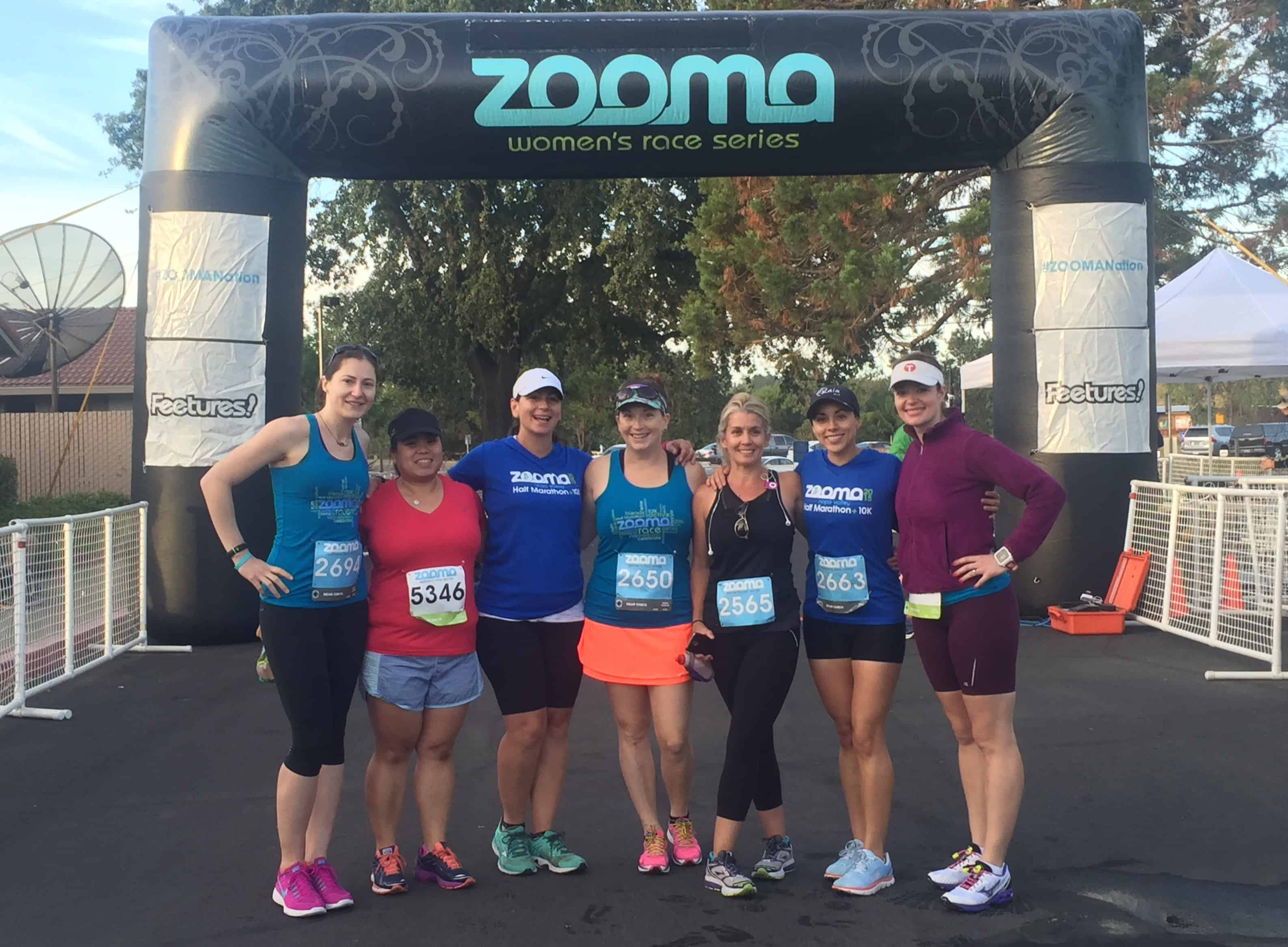 The Zooma Ambassadors before the race.