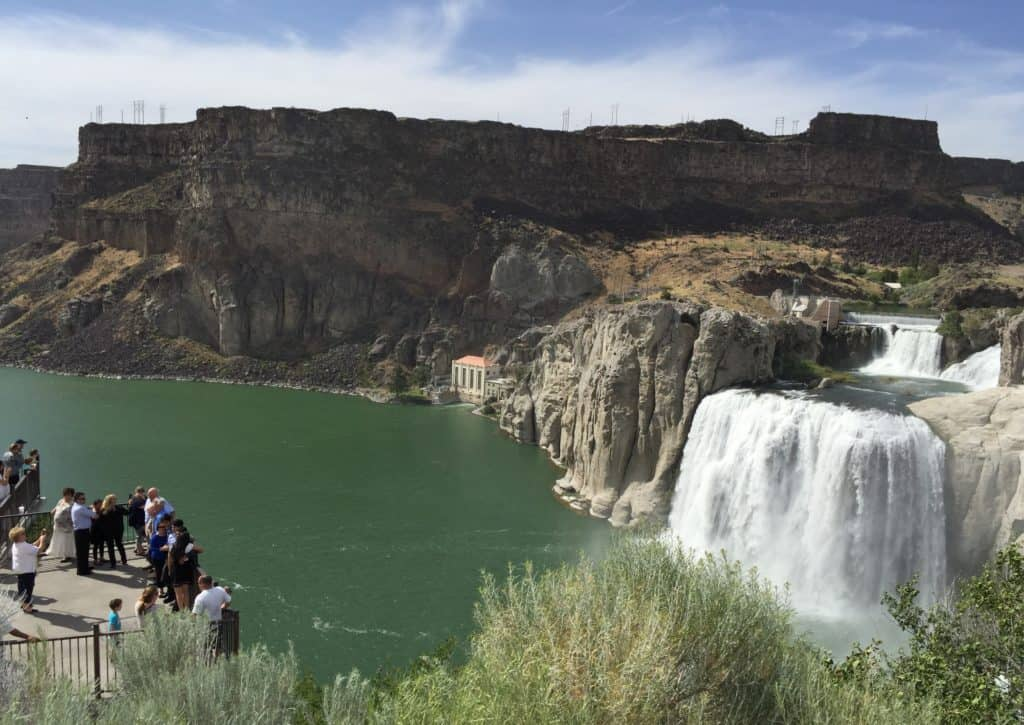 Family Road Trip From California To Yellowstone Tip Stop At Shoshone Falls Idaho Half Crazy Mama